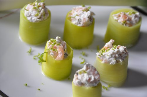 Lachs Lauch Sushi