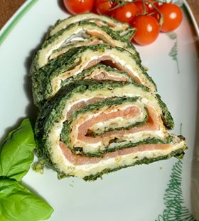 Spinat-Lachs Rolle