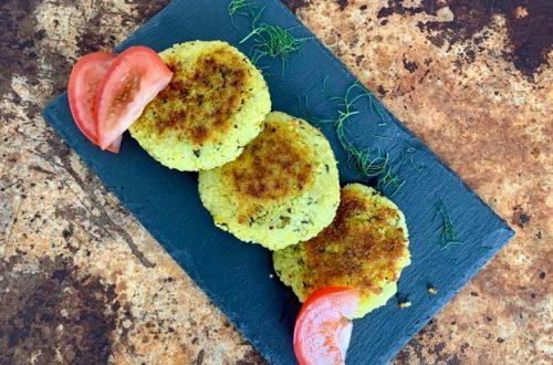 Vegane Couscous-Kartoffel Taler
